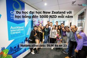Du học đại học New Zealand với học bổng đến 5000 NZD mỗi năm