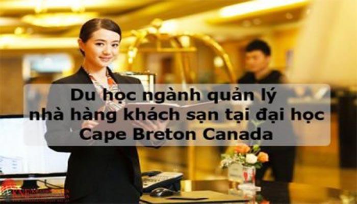 DU HỌC CANADA NGÀNH QUẢN LÝ NHÀ HÀNG KHÁCH SẠN TẠI ĐẠI HỌC CAPE BRETON