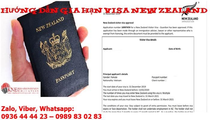 HƯỚNG DẪN GIA HẠN VISA NEW ZEALAND