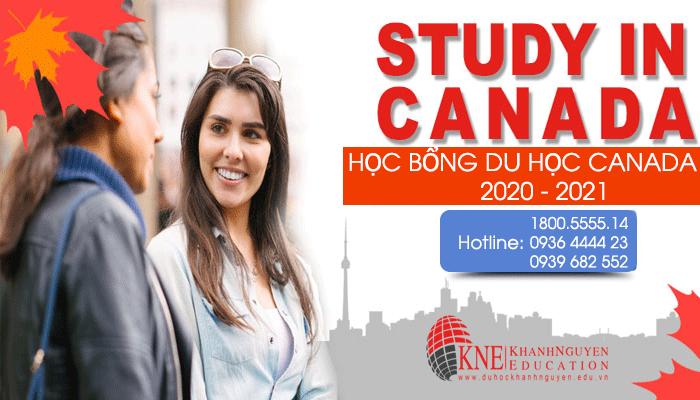 HỌC BỔNG DU HỌC CANADA MỚI NHẤT NĂM 2020 - 2021