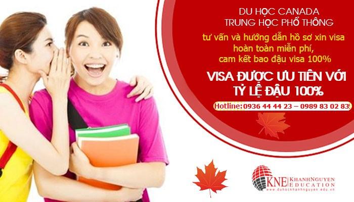 DU HỌC CANADA TRUNG HỌC PHỔ THÔNG BAO ĐẬU VISA