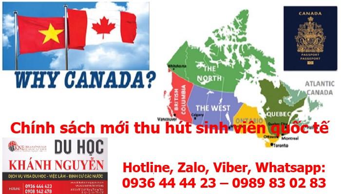 CHÍNH SÁCH MỚI THU HÚT SINH VIÊN QUỐC TẾ TỪ CANADA