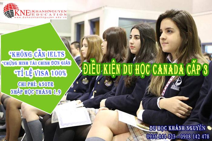 ĐIỀU KIỆN DU HỌC CANADA CẤP 3